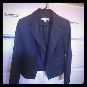 New York and Co. Navy/dark denim look suit jacket